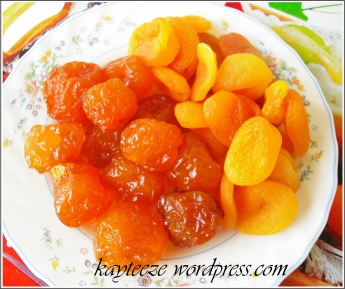 cherry apple dan dried apricot